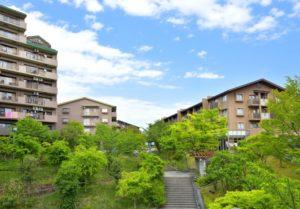 緑とマンション